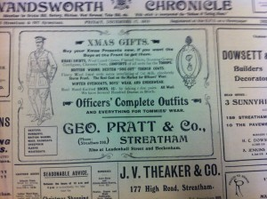 George Pratt & Co advert